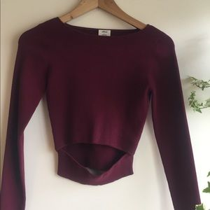 Wilfred cut-out knit long sleeve top